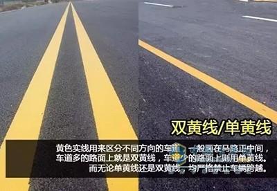 黄色实线-11个交通标线分辨你是菜鸟还是老司机