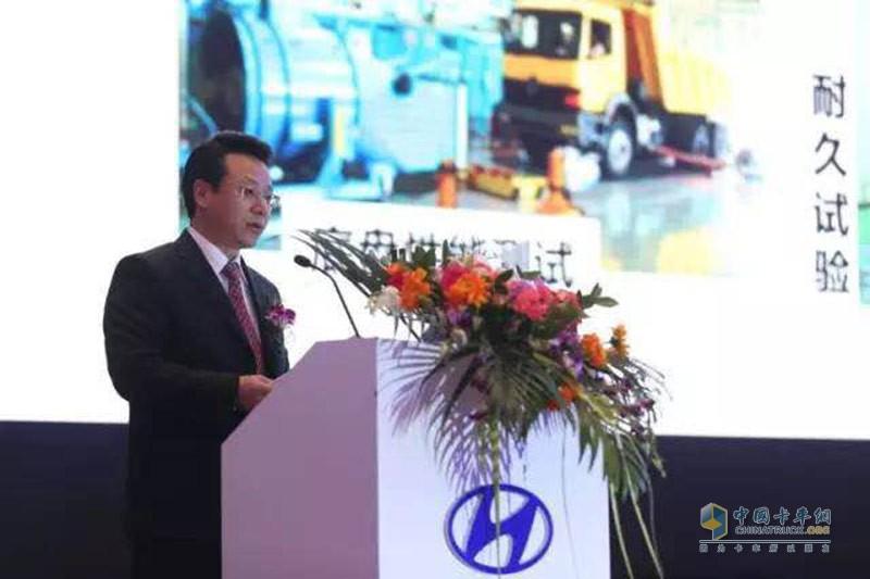 四川现代汽车有限公司常务副总经理李永明做经营工作报告