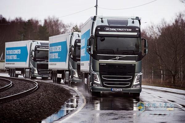 自动驾驶卡车车队穿越欧洲大陆