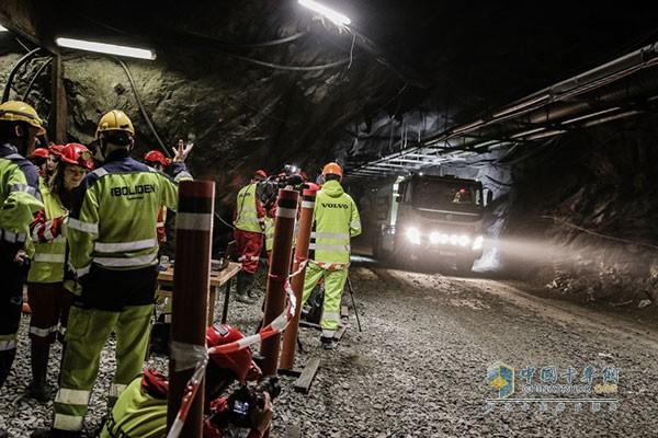 地下矿井测试自动驾驶