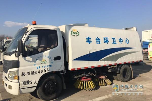 丰台区环境卫生服务中心机械化清扫队的欧马可清扫车