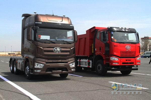 解放J7、J6P无人驾驶卡车