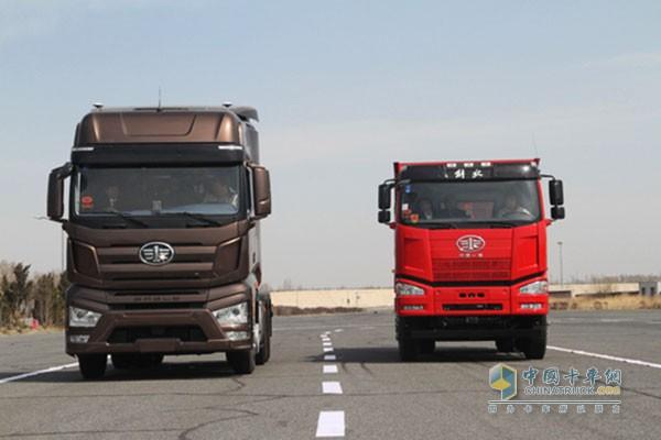 解放自主无人驾驶智能卡车首秀成功