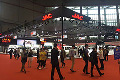 上海车展,江淮汽车展厅众多新品与大家见面