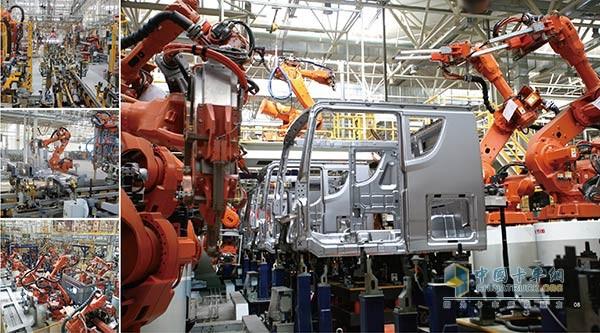 解放卡车生产过程