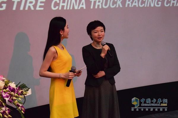五征集团总经理助理、汽车事业部总经理姜文娟发言