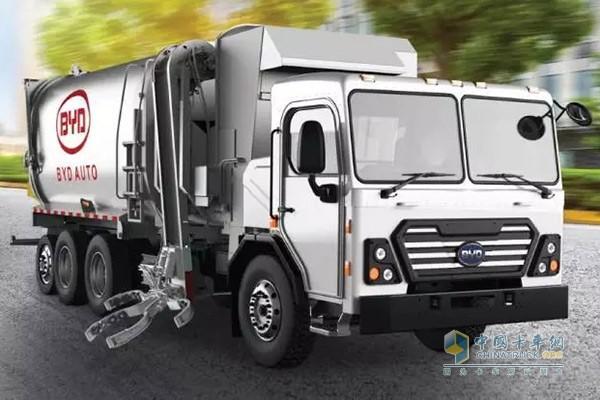 性能与颜值并存的比亚迪纯电动环卫卡车在北美首发