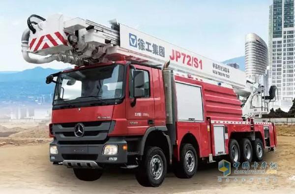 国内最高米数工业石化专用举高喷射消防车JP72S1魅力首销