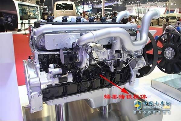 重汽曼技术蠕墨铸铁机体的MT13燃气机