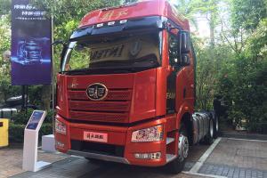 一汽解放 新J6P重卡 快运版 460马力 6X2牵引车(提升桥)