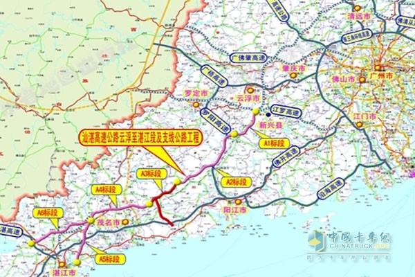 云浮至湛江高速公路规划图