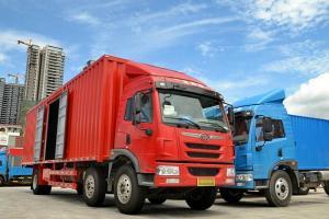 一汽解放青汽 龙V中卡 220马力 4X2厢式载货车