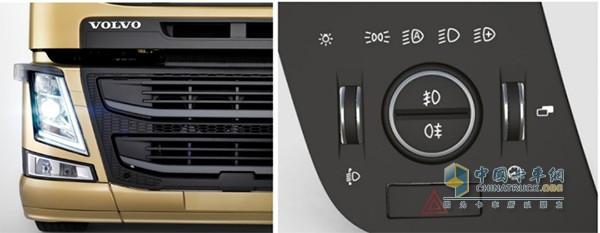 沃尔沃卡车明暗感应自动变换近光灯的设置