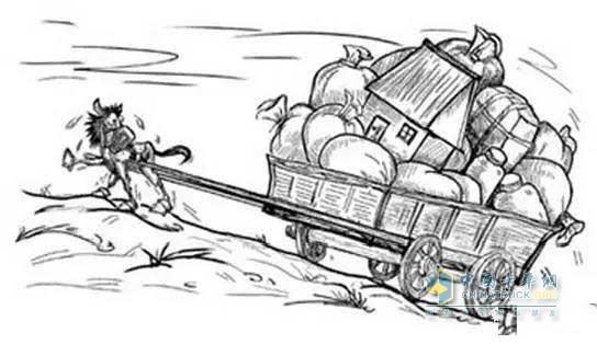 """国内很多卡车都是""""小马拉大车"""""""