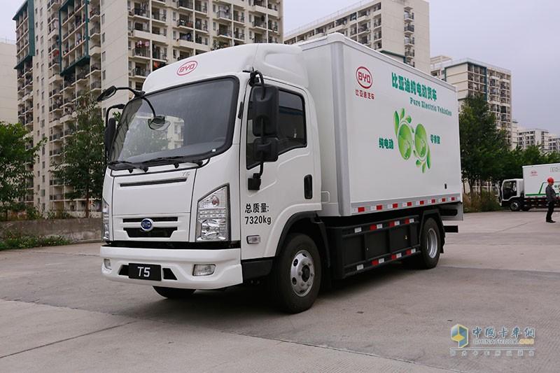比亚迪T5 轴距3360mm 纯电动箱式载货车