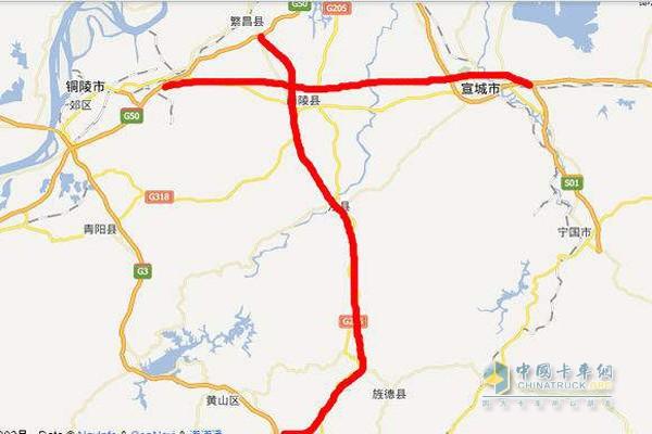 芜黄高速走向图