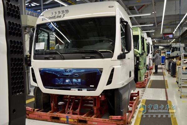 曼恩卡车生产线