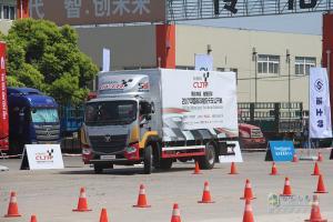 福田欧马可S5征战首届2017中国高效物流卡车公开赛