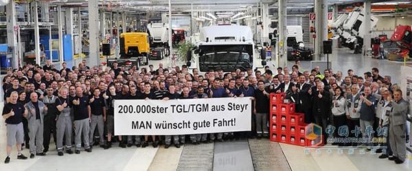 曼恩祝愿第20万辆TGL_TGM在Stiegl开启安全之旅!
