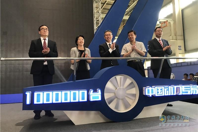 奥威第100万台暨CA6DM3(13L)第1万台柴油机下线