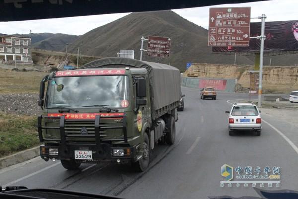 川藏汽车兵,中国重汽军车队