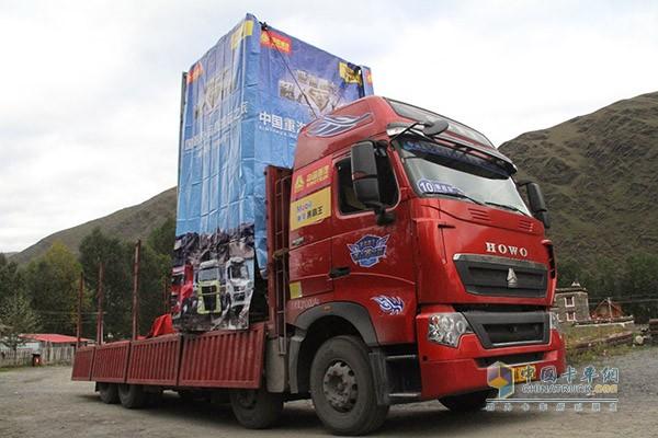攀岩车,HOWO-T7H 400马力8X4载货车