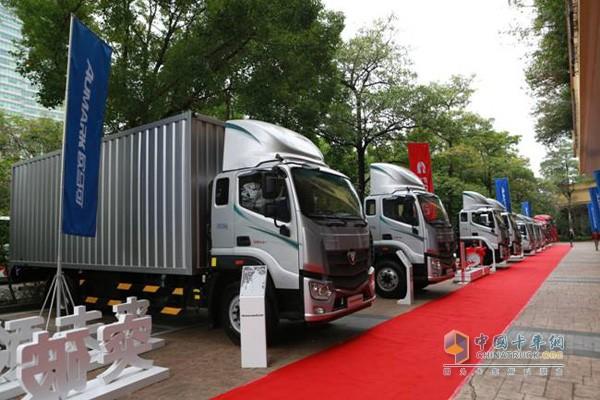 欧马可S5超级卡车在深圳中国首发