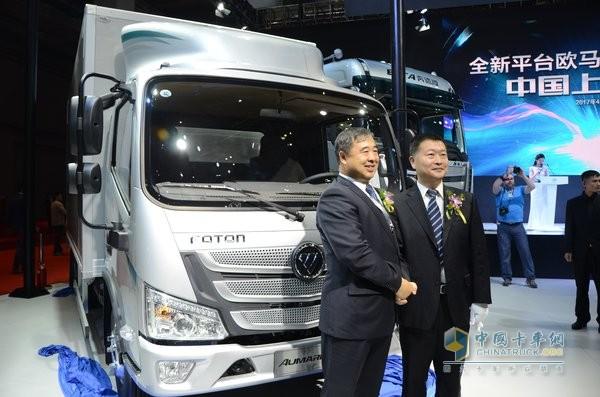 欧马可S1超级卡车在上海中国首发