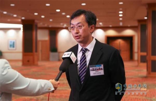 福田汽车集团常务副总经理、福田商用汽车集团CEO巩月琼先生接受采访