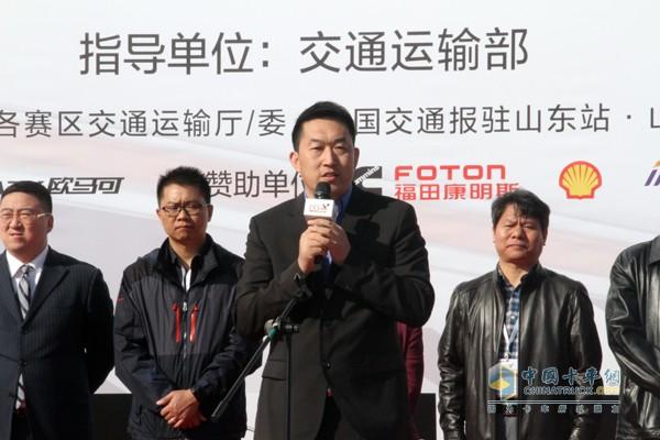 福田戴姆勒汽车营销公司副总经理徐向明先生致辞
