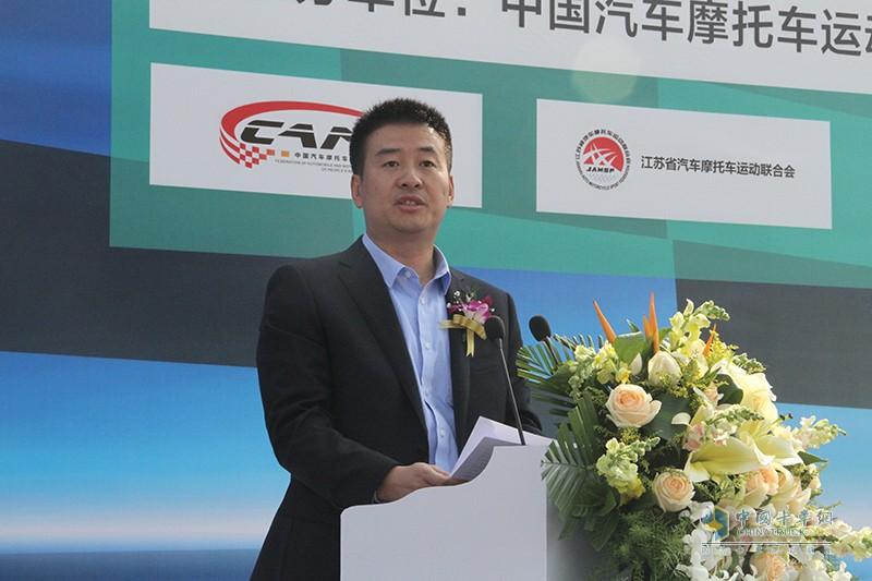 福田轻型商用车事业本部奥铃业务总监王建军先生讲话