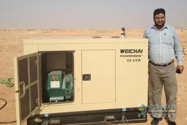潍柴发电机组在巴基斯坦塔尔沙漠