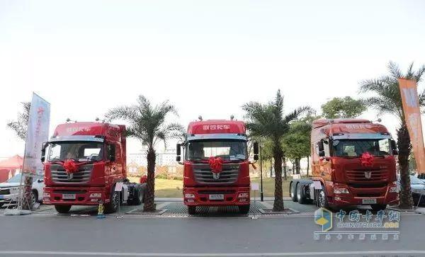 联合卡车8周年庆典现场展车