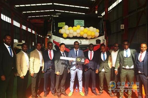 中国重汽埃塞俄比亚第二条KD组装线开业