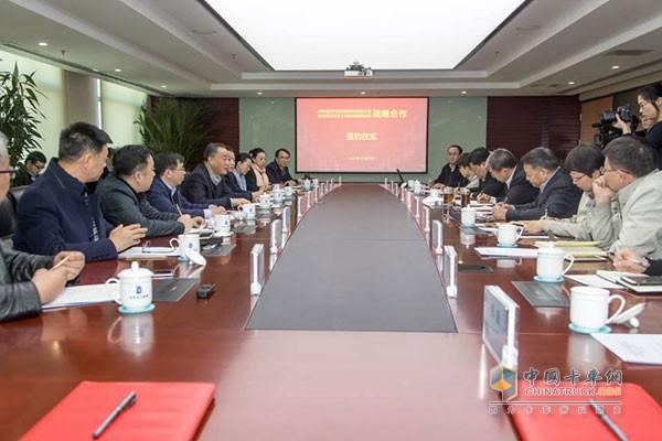中国葛洲坝集团与北京环卫集团合作签约仪式在京举行