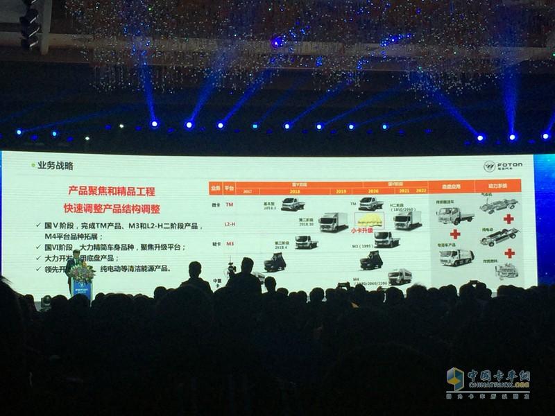 福田时代将以福田祥菱、福田时代M3、瑞沃ES及系列新产品为核心,树立时代业务在微卡、轻卡、中重卡及工程车目标细分市场的中高端品牌形象