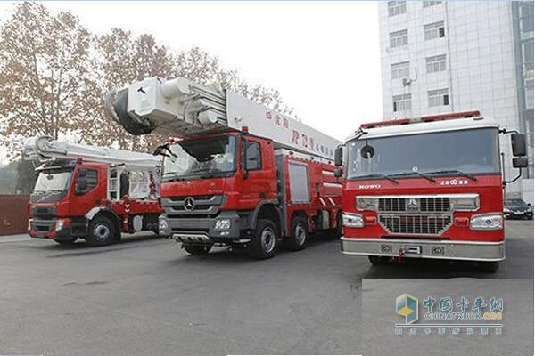 三门峡购置的三辆消防车