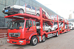 引领轿运新时代--重汽豪瀚J5G 6X2中置轴车辆运输车
