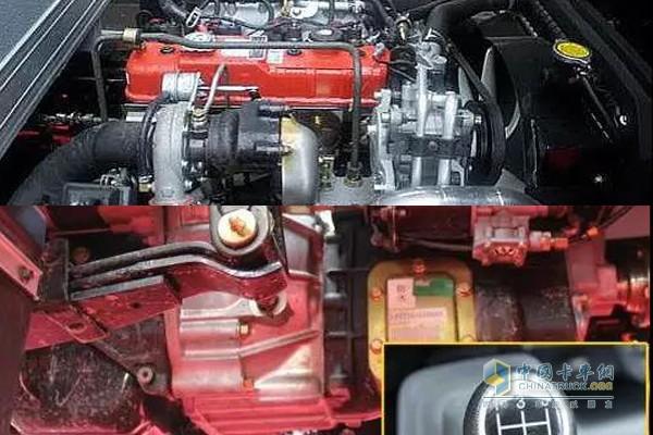 奥铃TS搭载五十铃4J28TC3型发动机和万里扬5T92变速箱