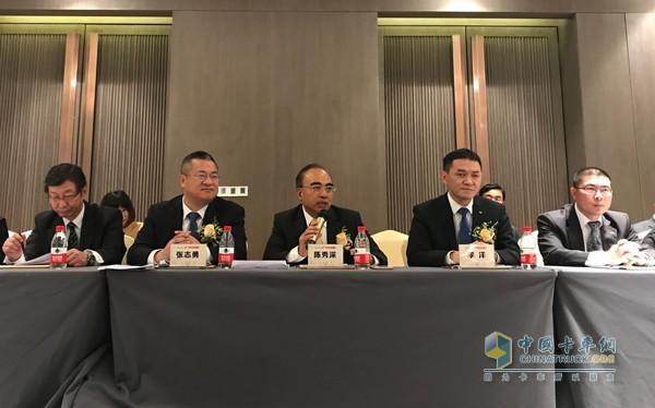 广汽日野700臻值系重卡上市发布会现场企业负责人发言
