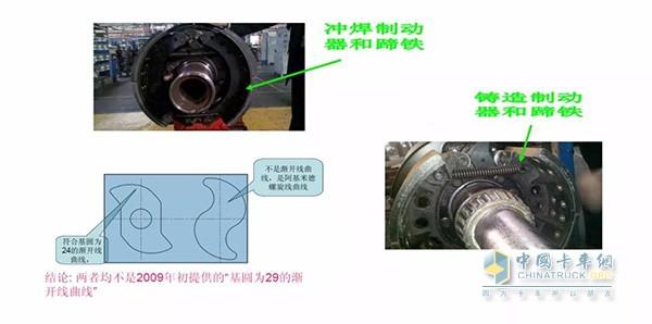 突然更变制动器材质和制动器参数会导致车辆制动疲软