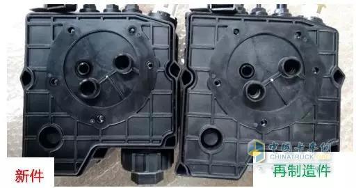 再制造尿素泵和新尿素泵的外观差异图
