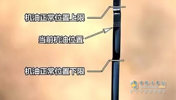 机油尺测量润滑油高度