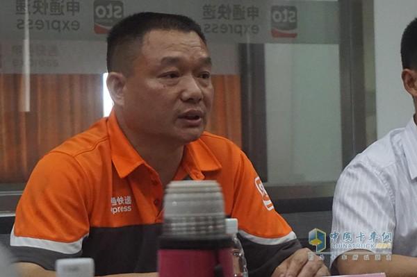 广东申通车队经理蒋华林先生