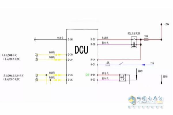 并测结合电路图测量下dcu的供电及can线的电压电阻.