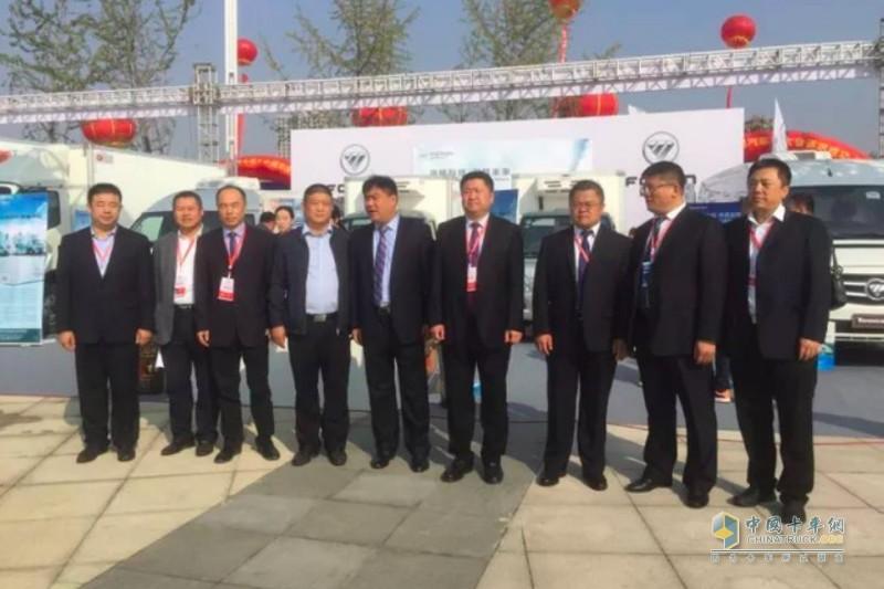 福田戴姆勒汽车参展2017河南民权第三届制冷设备博览会