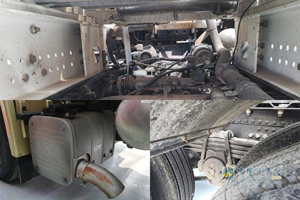 德龙X3000天然气版车身多处都采用了轻量化设计