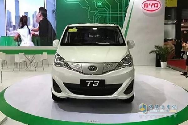 比亚迪T3纯电动MPV物流车
