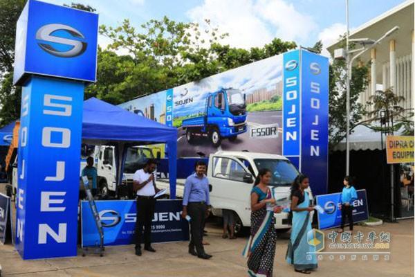 时骏汽车亮相斯里兰卡国际建工展