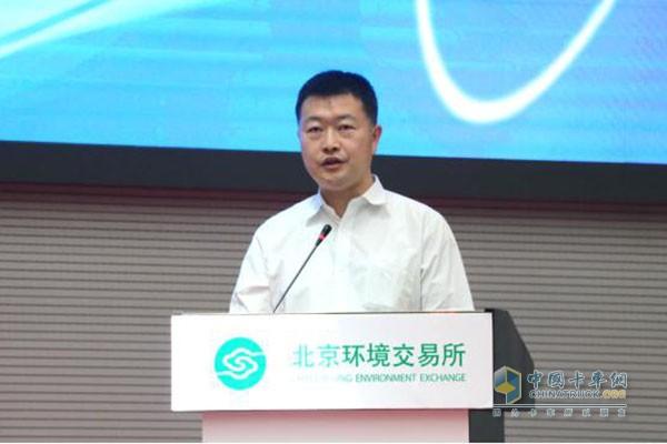 福田商用汽车集团副总裁--顾德华先生发表主题演讲